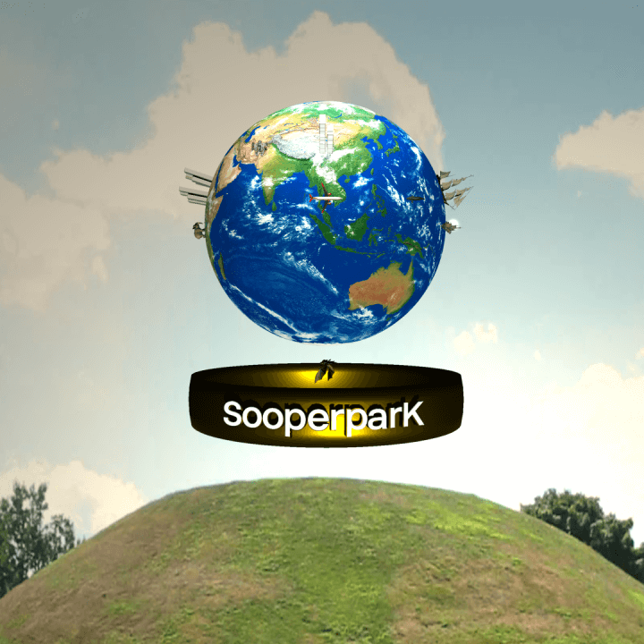 SooperparK logo in AR @ Sayajibaug