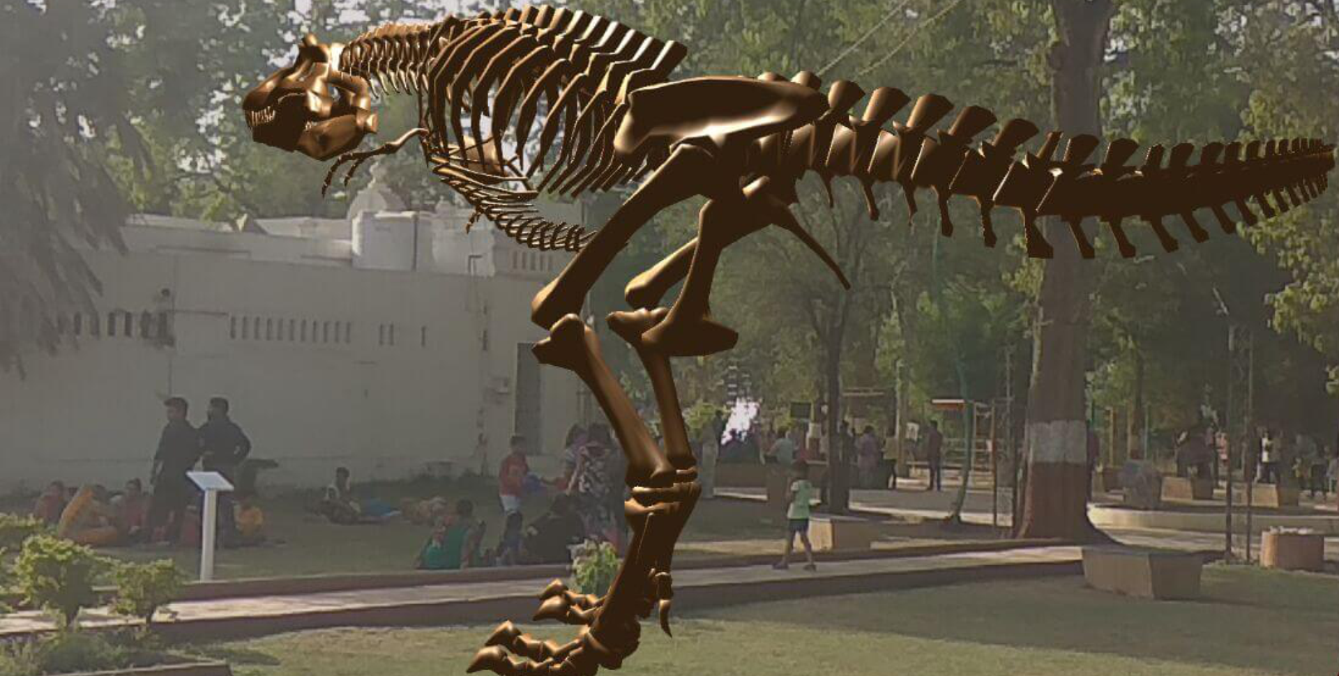 T Rex Skeleton in AR